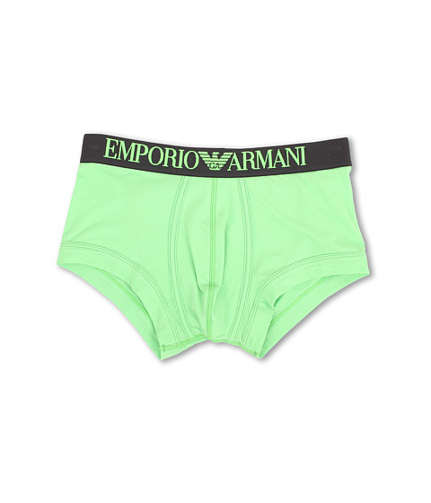Emporio Armani - Coloured Stretch Cotton Boxer Brief (Green Flourescent) Men's Underwear