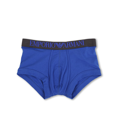 Emporio Armani - Coloured Stretch Cotton Boxer Brief (Royal Blue) Men