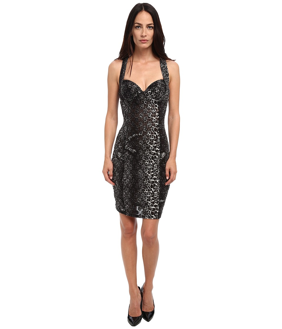Jean Paul Gaultier - Colored Panther Polka Dot Tulle Bustier Dress (Nero) Women's Dress