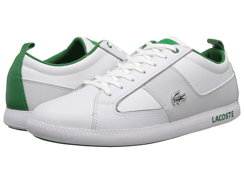 Lacoste - Observe Bst (White/Green) Men's Lace up casual Shoes