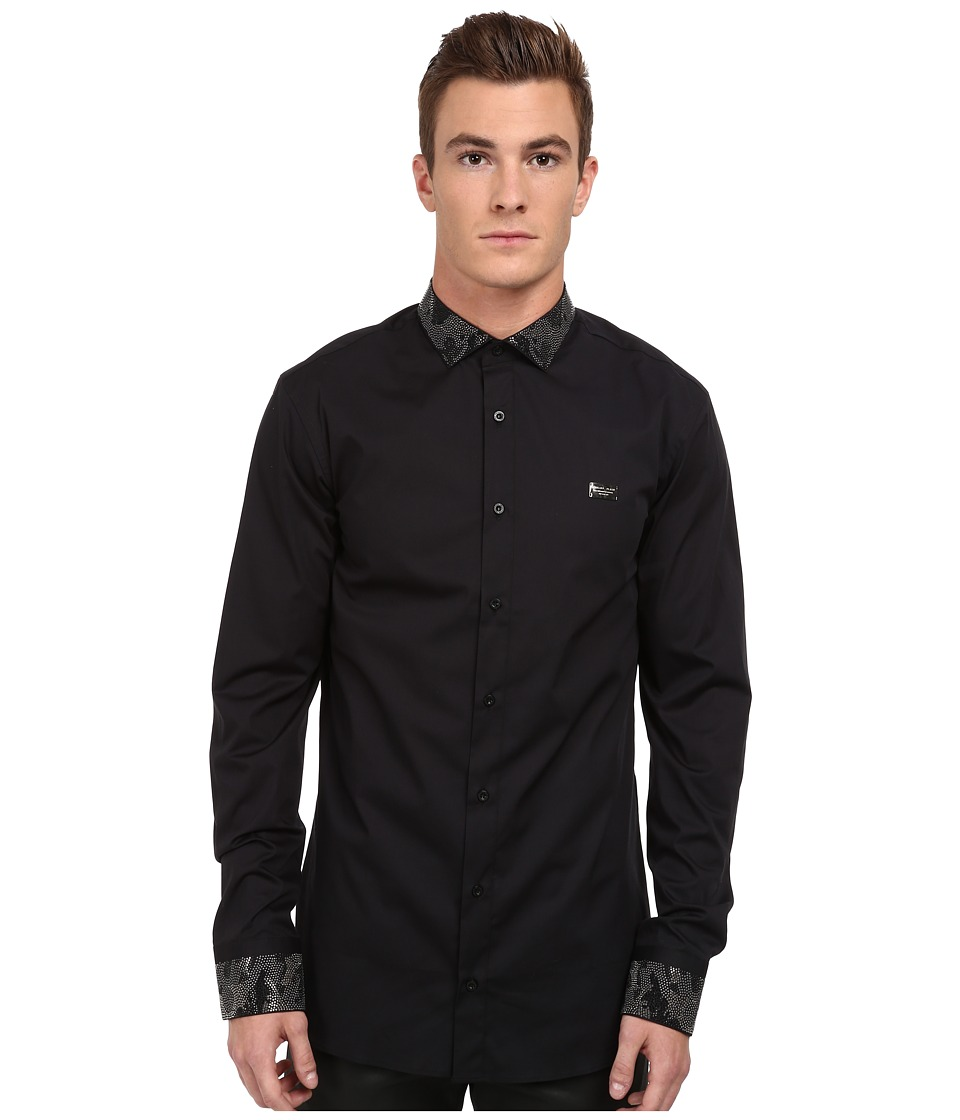 Philipp Plein - J. Bond Button Up (Black) Men