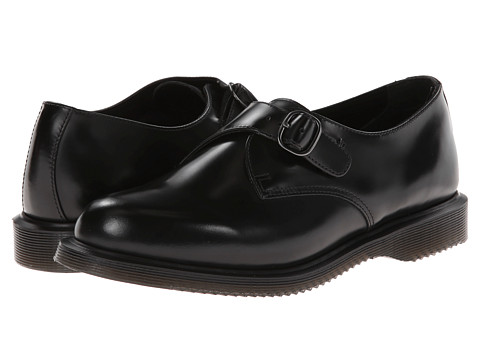 Dr. Martens - Lorne Monk Shoe (Black Polished Smooth) Women's Shoes