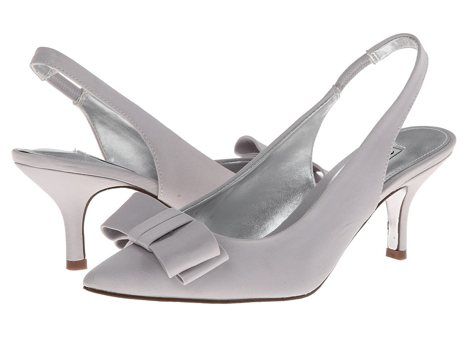 Nina - Beatrix (Silver Satin) High Heels