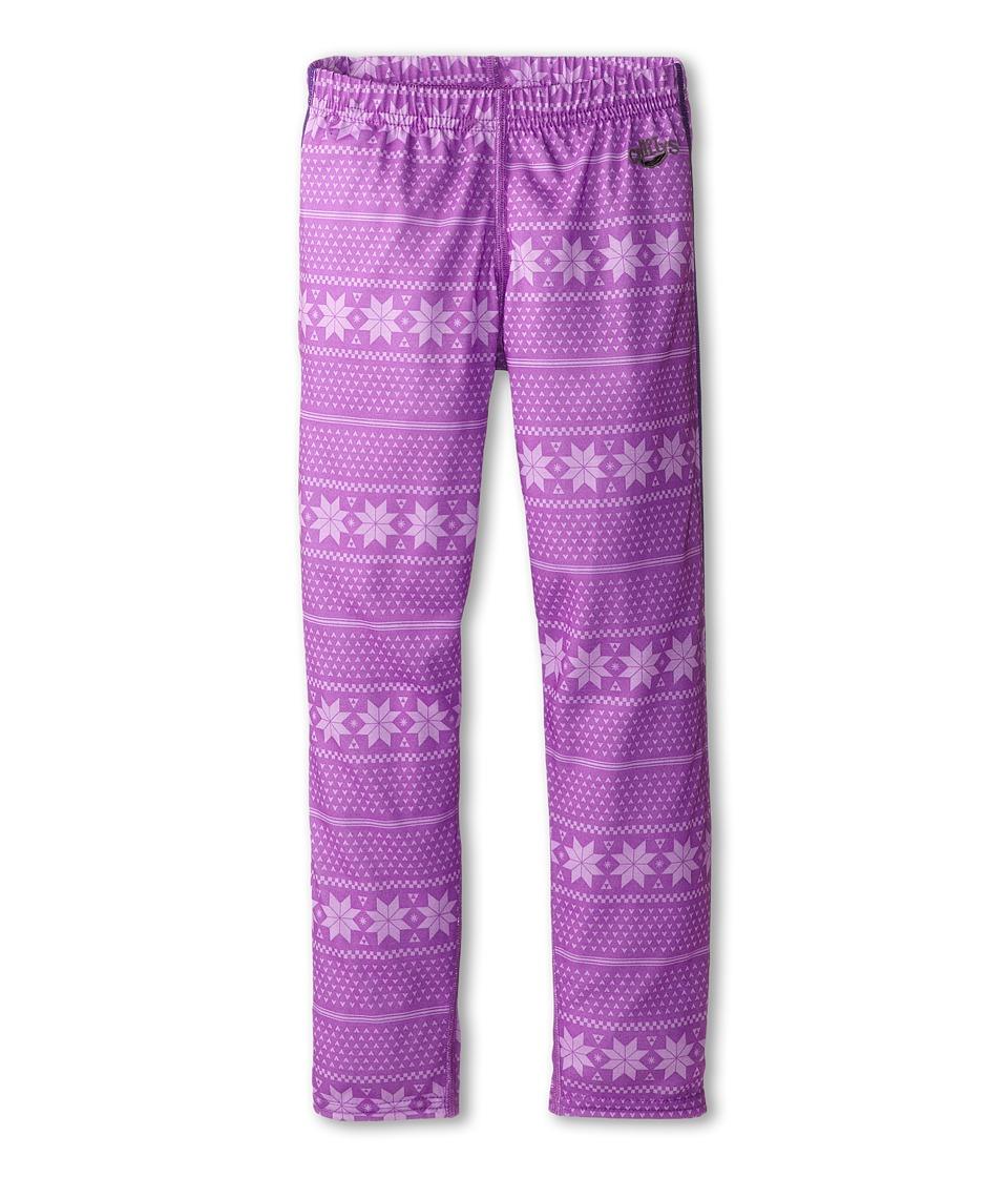 Hot Chillys Kids - Midweight Print Bottom (Little Kids/Big Kids) (Alpine Stripe/April) Kid's Casual Pants