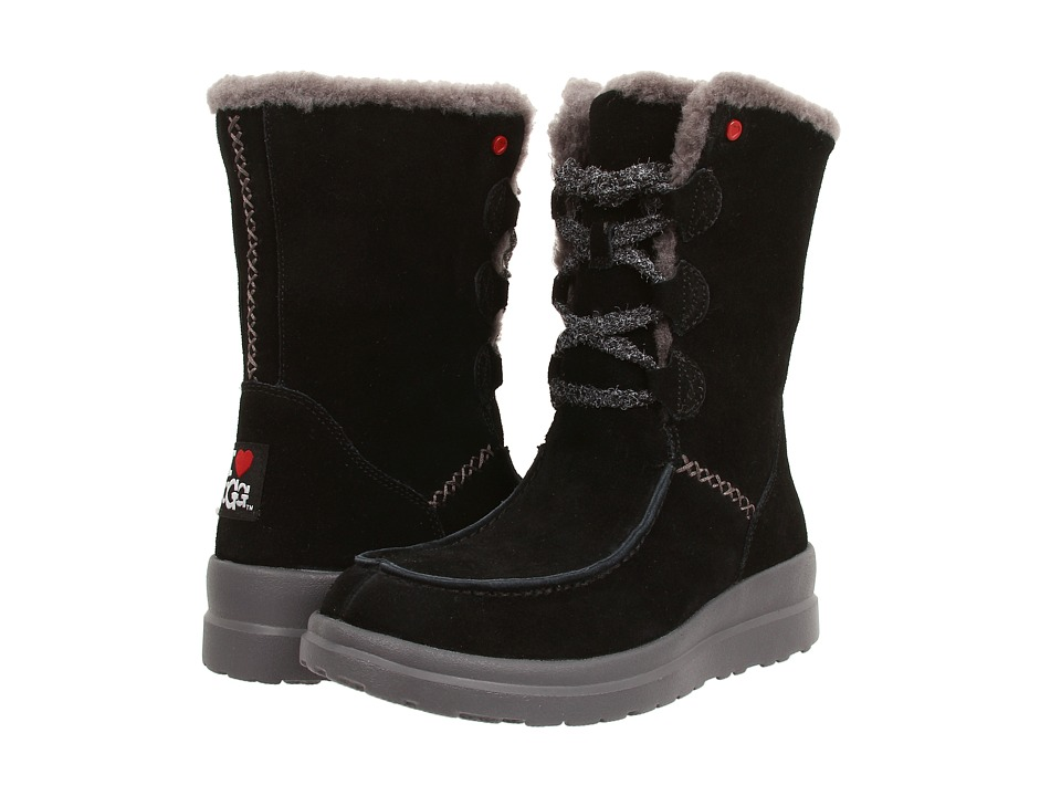 UGG - Lacy Short (Black Suede) Women's Boots