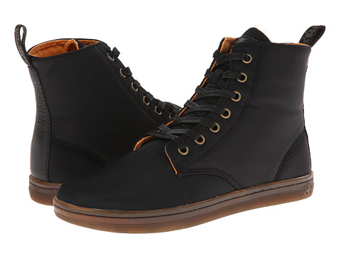 Dr. Martens - Hackney 7-Eye Boot (Black Aviator Nylon/Game On) Women's Lace-up Boots