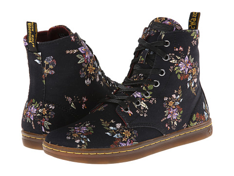 Dr. Martens - Hackney 7-Eye Boot (Black Belladonna Fine Canvas) Women
