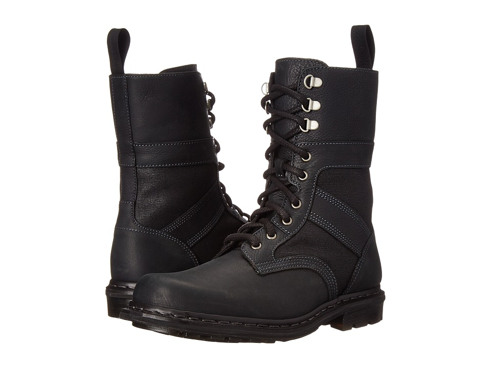 Dr. Martens - Arun Fold Down Boot (Black Burnished Wyoming) Men