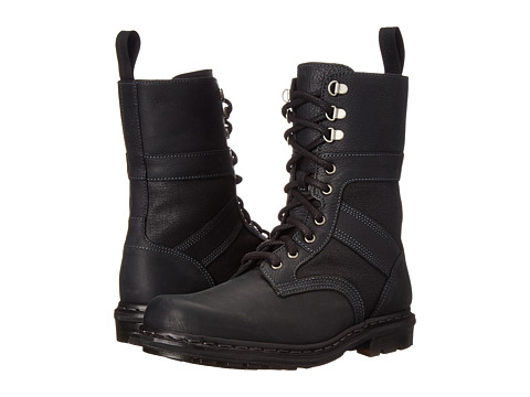 Dr. Martens - Arun Fold Down Boot (Black Burnished Wyoming) Men's Lace-up Boots