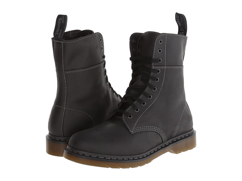 Dr. Martens - Bart 10-Eye Boot (Black Polished Wyoming) Men's Lace-up Boots