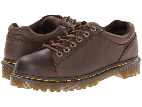 Dr. Martens - Bold 6-Tie Shoe (Dark Brown Burnished Wyoming) Men