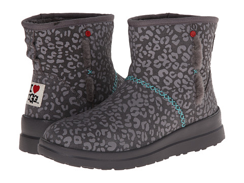 UGG - Kisses Mini (Grey Leopard Suede) Women's Boots