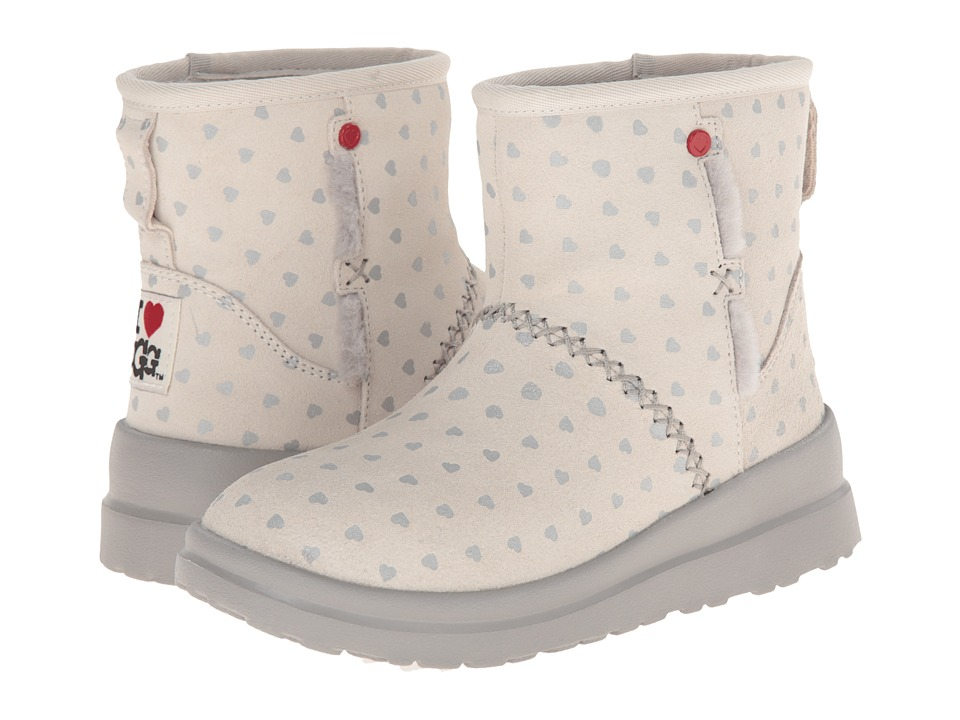 UGG - Kisses Mini (Silver Hearts Suede) Women