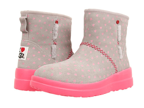 UGG - Kisses Mini (Hot Pink Hearts Suede) Women