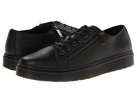 Dr. Martens - Darold Zip Shoe (Black Montreal Lux) Men's Lace up casual Shoes