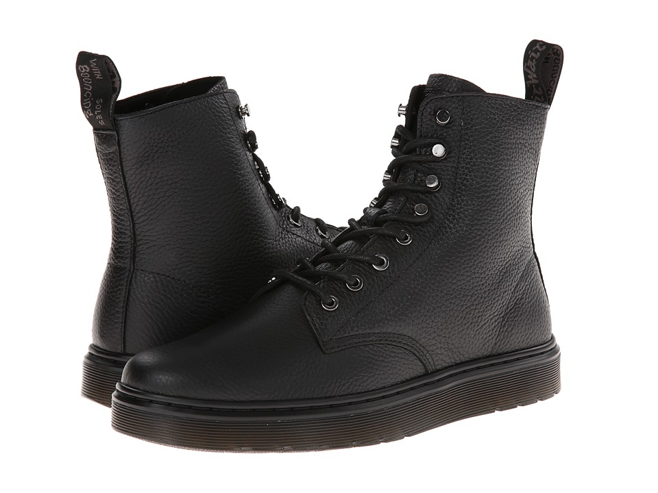 Dr. Martens - Curtis 8-Tie Boot (Black Montreal Lux) Men