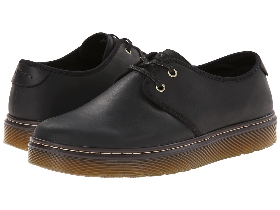 Dr. Martens - York Plain Toe Shoe (Black Wyoming) Men