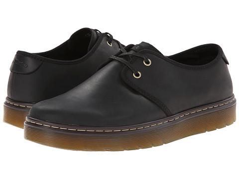 Dr. Martens - York Plain Toe Shoe (Black Wyoming) Men's Lace up casual Shoes