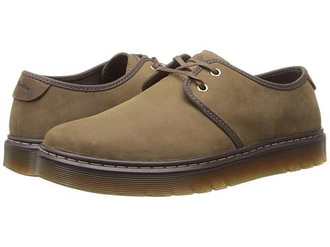 Dr. Martens - York Plain Toe Shoe (Dark Moss Kaya/Dark Brown Wyoming) Men