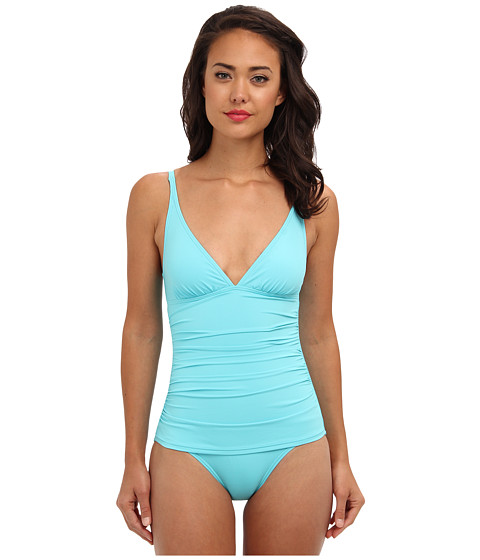 Tommy Bahama - Pearl Solids V-Neck Cup One-Piece (Capri) Women