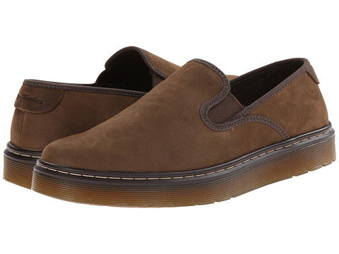 Dr. Martens - Durham Slip On Shoe (Dark Moss Kaya/Dark Brown Wyoming) Men's Slip on Shoes