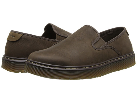 Dr. Martens - Durham Slip On Shoe (Dark Brown Wyoming/Dark Moss Kaya) Men
