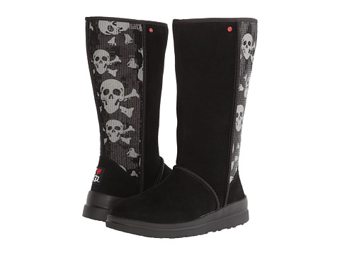 UGG - Kisses Tall (Black Sequin Skull Suede) Women
