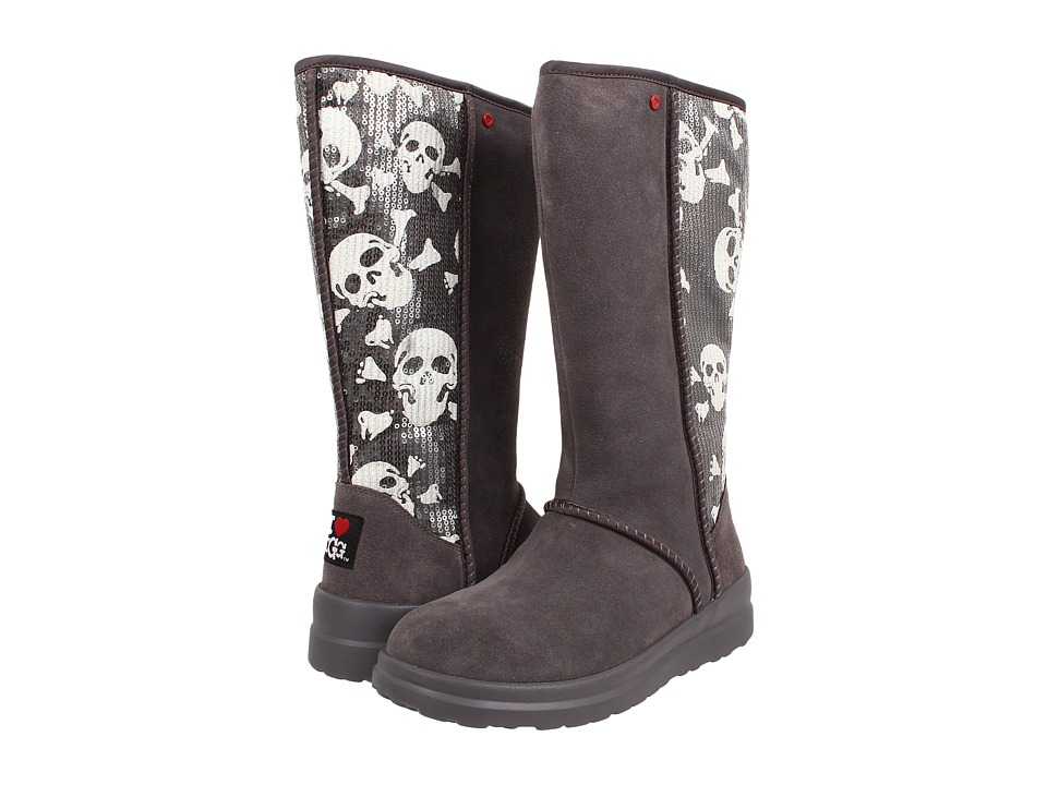 UGG - Kisses Tall (Grey Sequin Skulls Suede) Women