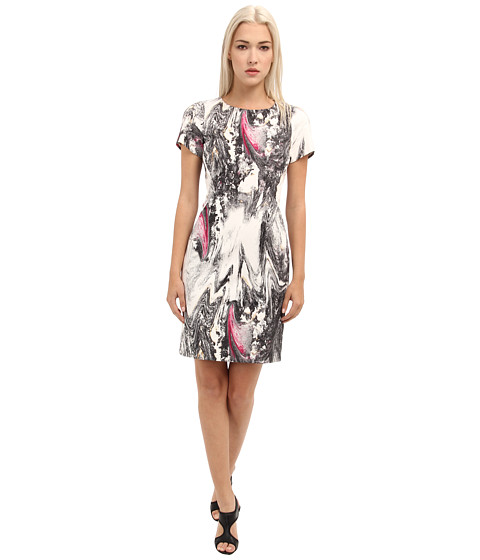 Rachel Roy - Square Shoulder Dress (Industrial Grey Multi) Women