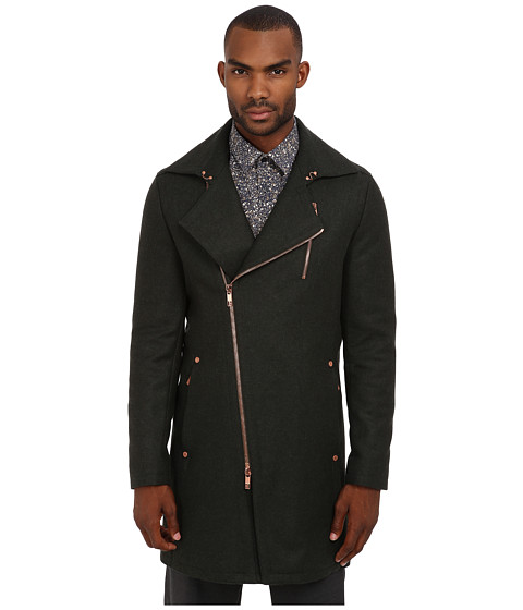 Bikkembergs - Asymmetric Coat (Glass Green) Men's Coat