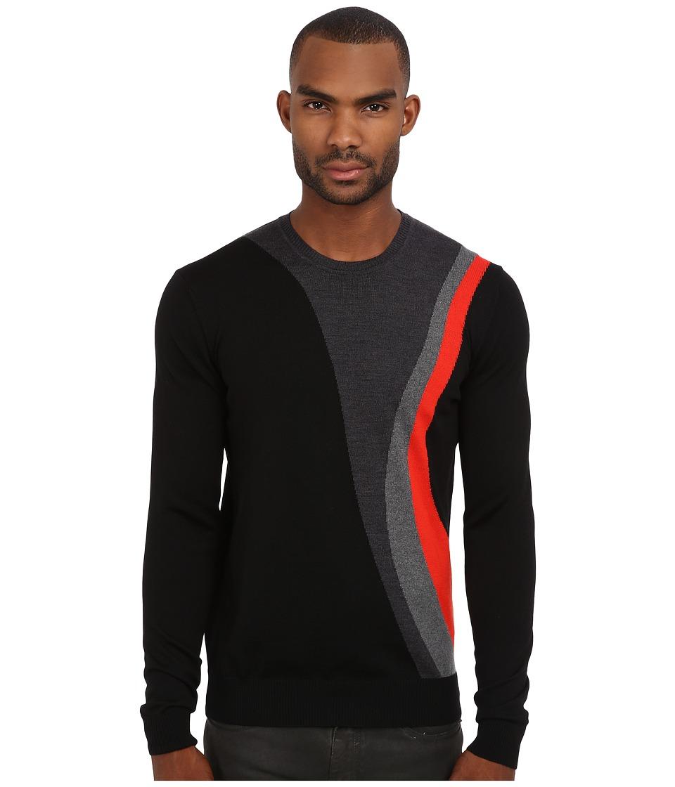 Bikkembergs - D2DB8171019S999 (Black) Men's Sweater