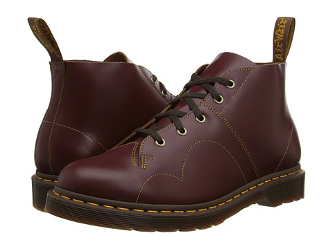 Dr. Martens - Church Monkey Boot (Oxblood Vintage Smooth) Lace-up Boots