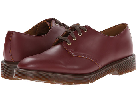 Dr. Martens - Smiths 4-Eye Shoe (Oxblood Vintage Smooth) Lace up casual Shoes