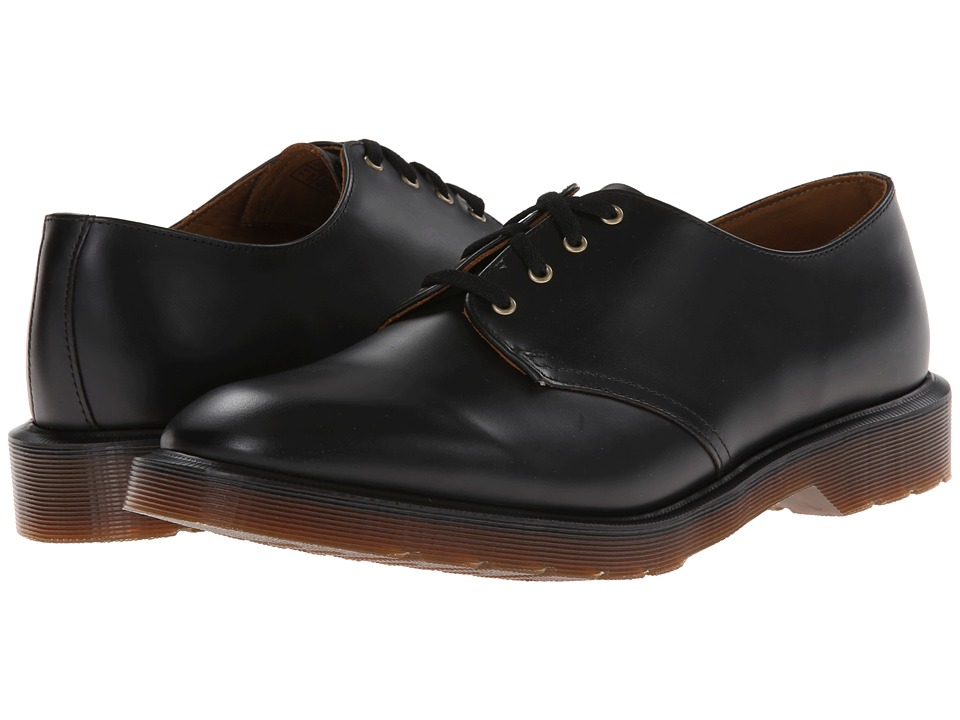 Dr. Martens - Smiths 4-Eye Shoe (Black Vintage Smooth) Lace up casual Shoes