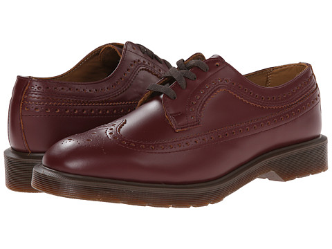 Dr. Martens - 3989 Brogue Shoe (Oxblood Vintage Smooth) Lace up casual Shoes