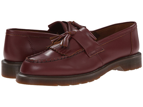 Dr. Martens - Leroy Tassle Loafer (Oxblood Vintage Smooth) Slip on Shoes