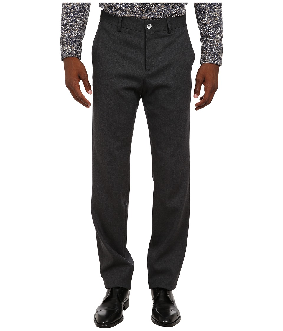 Bikkembergs - Wool Suit Trousers (Charcoal Grey) Men's Dress Pants