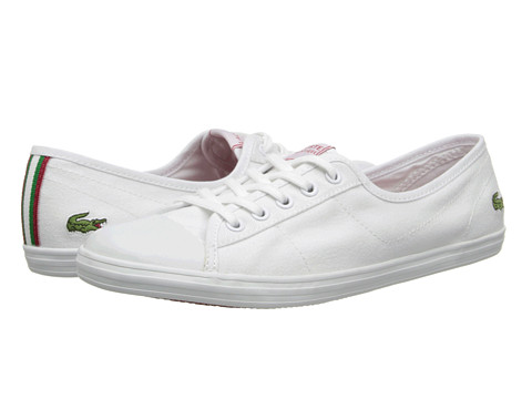 Lacoste - Ziane CRT (White/White) Women's Shoes