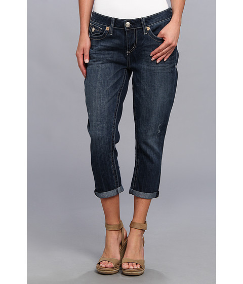 Seven7 Jeans 22 Easy Crop w/ Flap (Castle) Women's Jeans