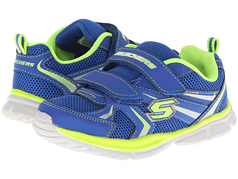 SKECHERS KIDS - Sport Speedees - Burn Outs 95083WN (Toddler/Little Kid) (Blue/Lime) Boys Shoes