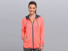Reebok Wor Mesh Full Zip Top (Punch Pink S14-R) Women's Coat