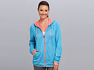 Reebok Wor Mesh Full Zip Top (Blue Bomb S14-R) Women's Coat