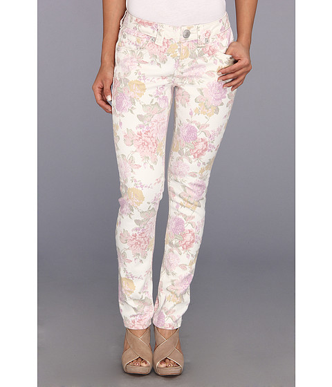 Seven7 Jeans - Petite Skinny in French Garden w/ Pink Flowers (French Garden w/ Pink Flowers) Women's Jeans