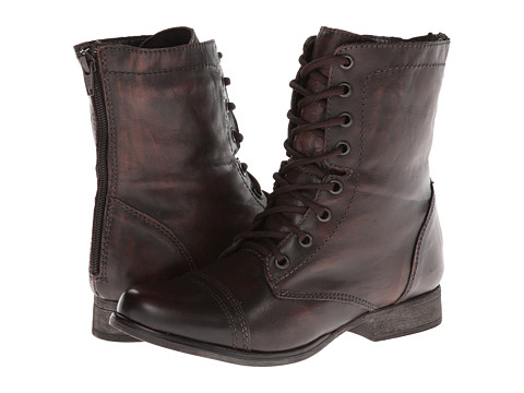 Steve Madden - P-Kombat (Dark Brown) Women's Lace-up Boots
