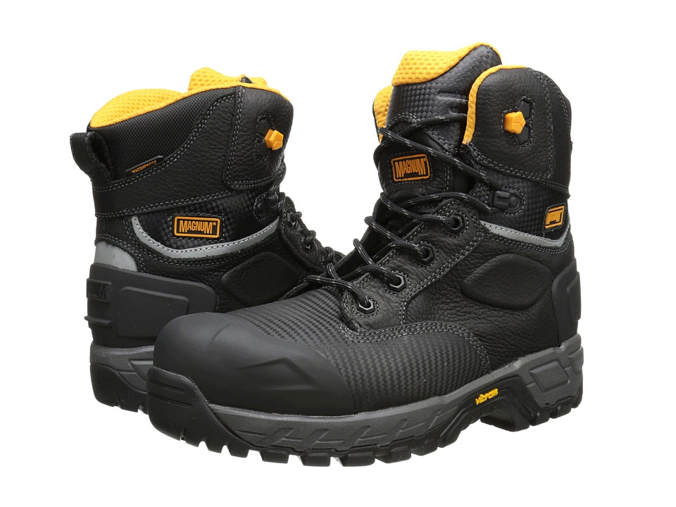 Magnum - Halifax 6.0 WP Composite Toe (Black) Men's Work Boots