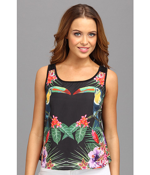 Yumi - Mirror Tucan Top (Black) Women's Sleeveless