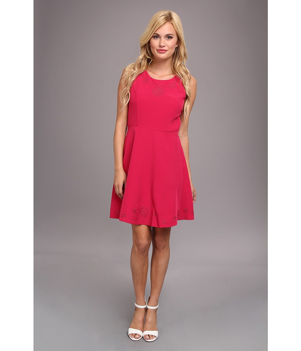 Yumi - Cut-Out Skater Dress (Pink) Women's Dress