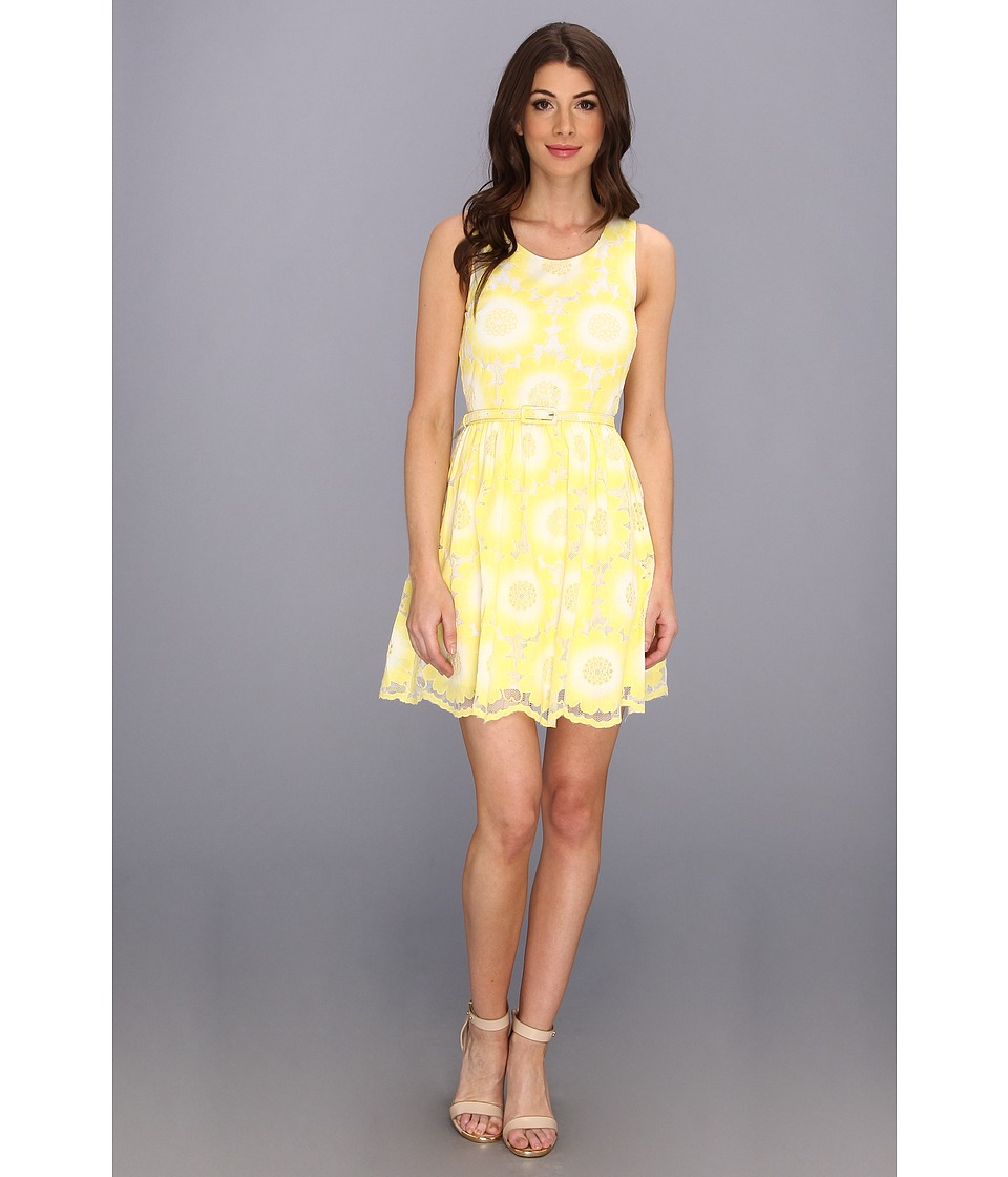Yumi - Pretty Petal Dress (Yellow) Women's Dress