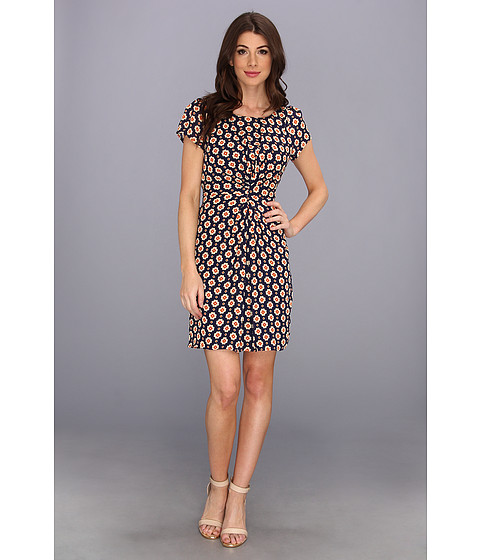 Yumi - Geo Blossom Dress (Navy) Women's Dress