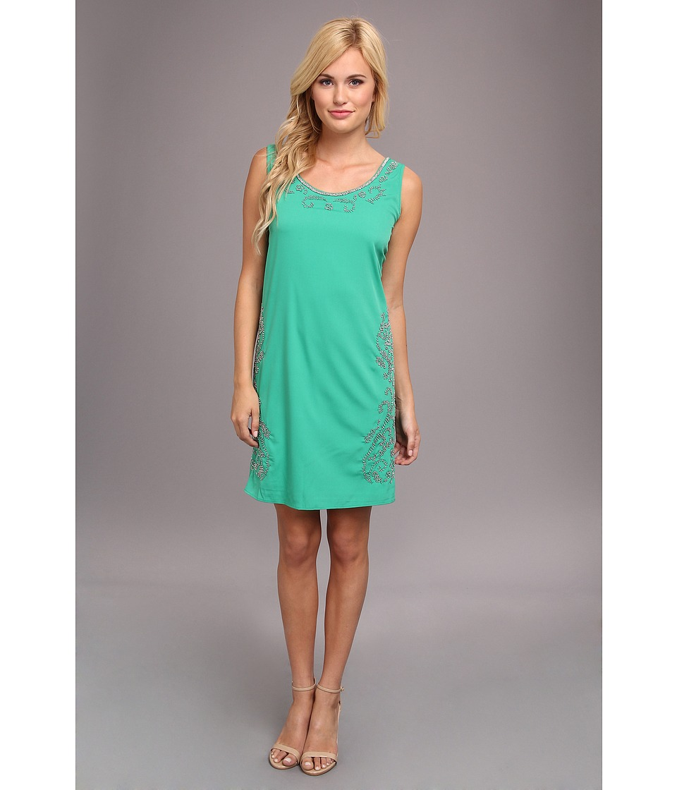 Yumi - Floral Dazzler Dress (Green) Women's Dress